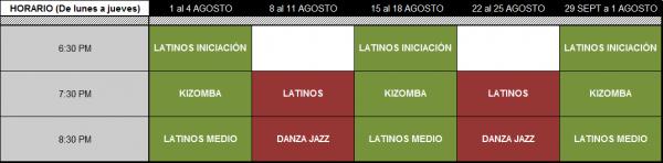 Horario Otros Cursos Breathless Dance Center