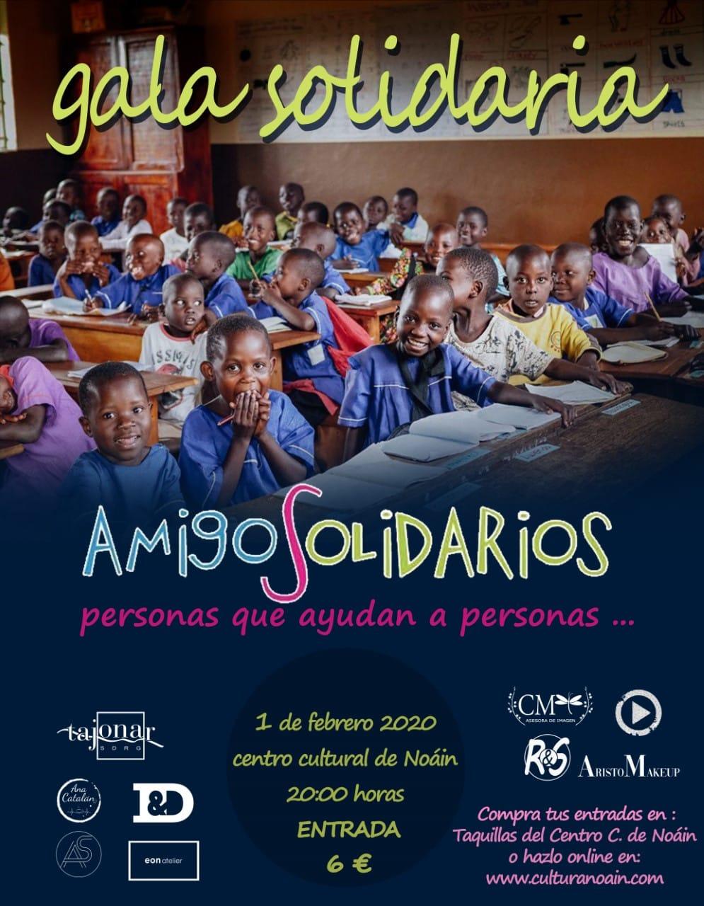 """gala solidaria """"AMIGOS SOLIDARIOS""""."""